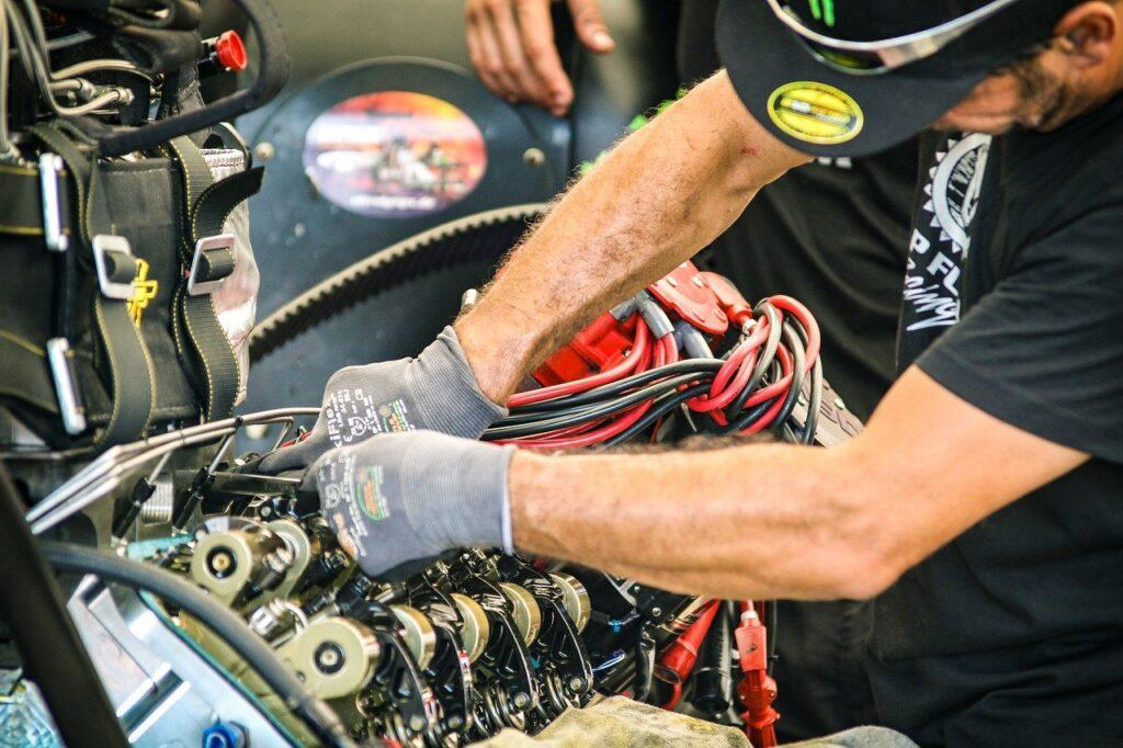 man, mechanic, machine