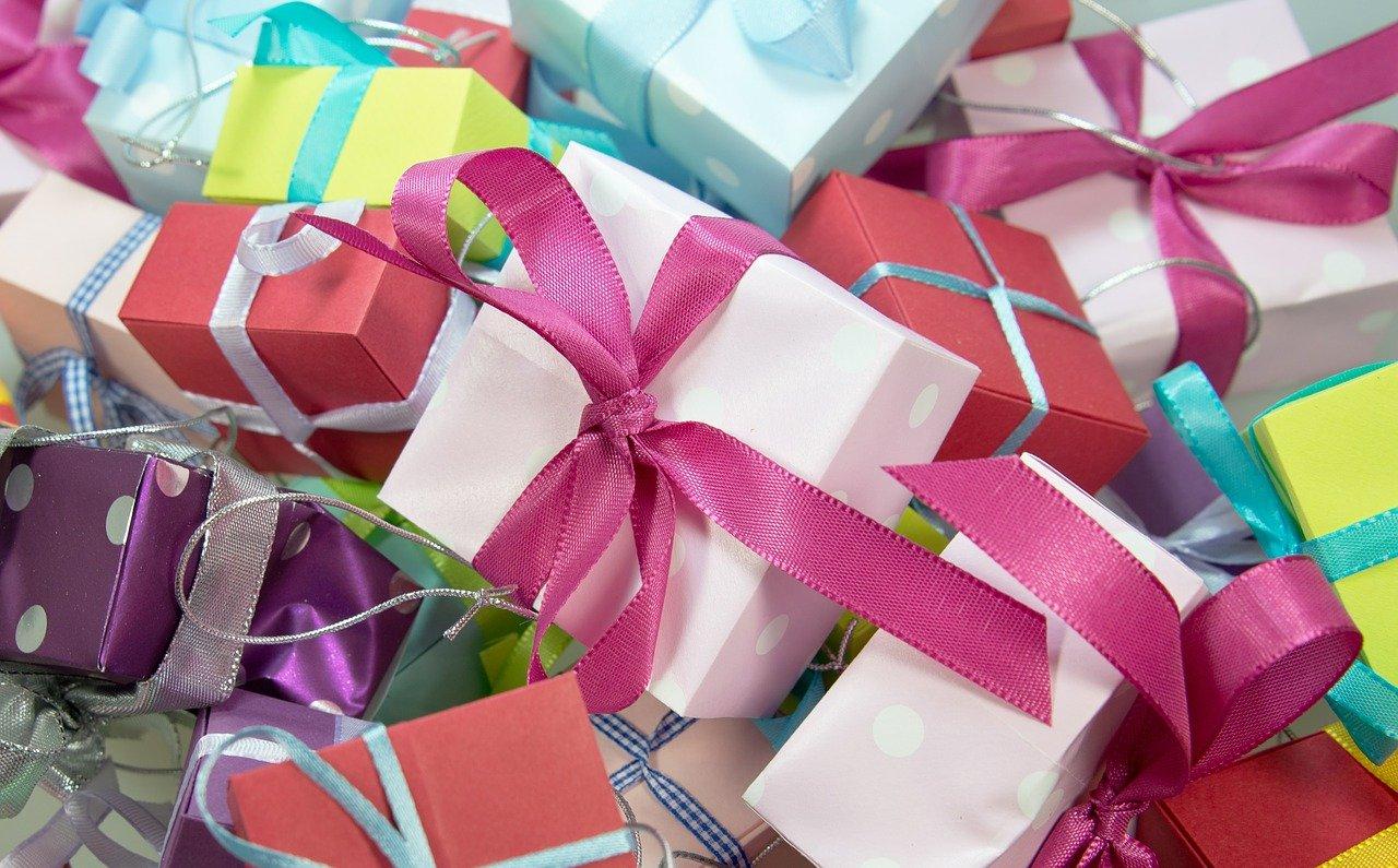 gift, package, loop